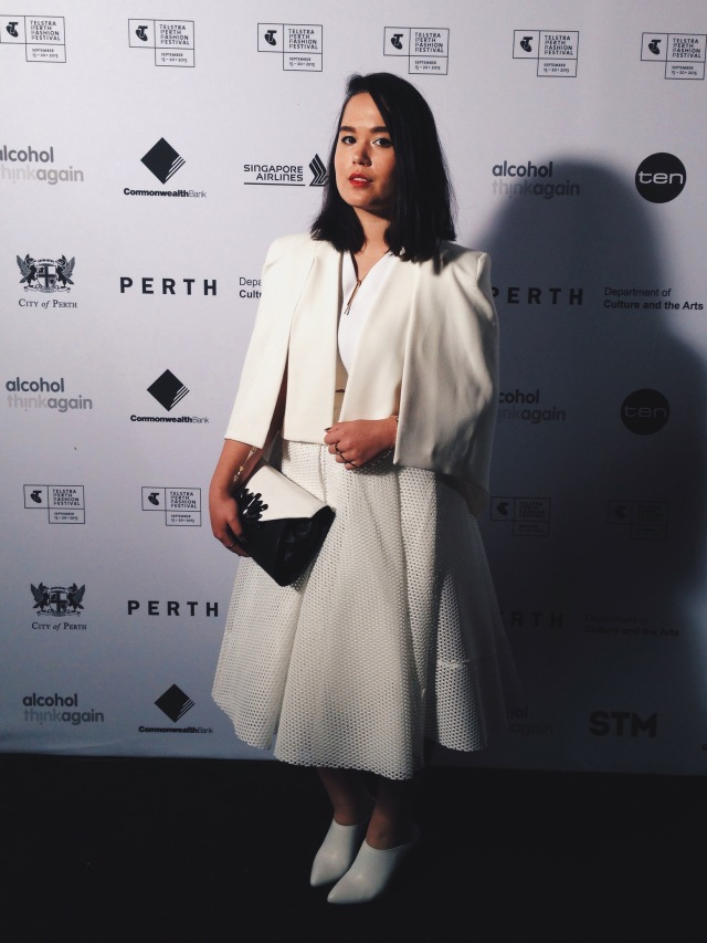 Tiffany Kennedy at the Telstra Perth Fashion Festival